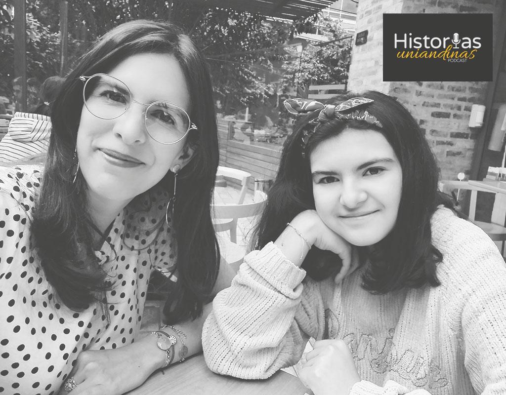 Rosario Gómez con su hija, Gabriela.