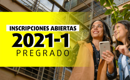 Del 7 de septiembre al 3 de noviembre, hasta las 5:00 p.m., podrá inscribirse para ingresar en enero de 2021.