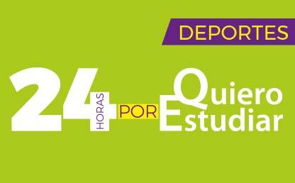 Banner 24 horas corriendo por Quiero Estudiar