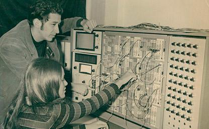 Computador análogo TR 48, Sala de Cómputo, Universidad de los Andes