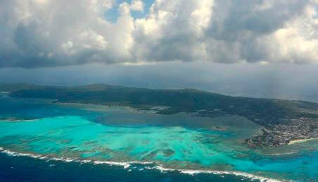 Imagen de la isla de San Andrés, tomada desde el aire