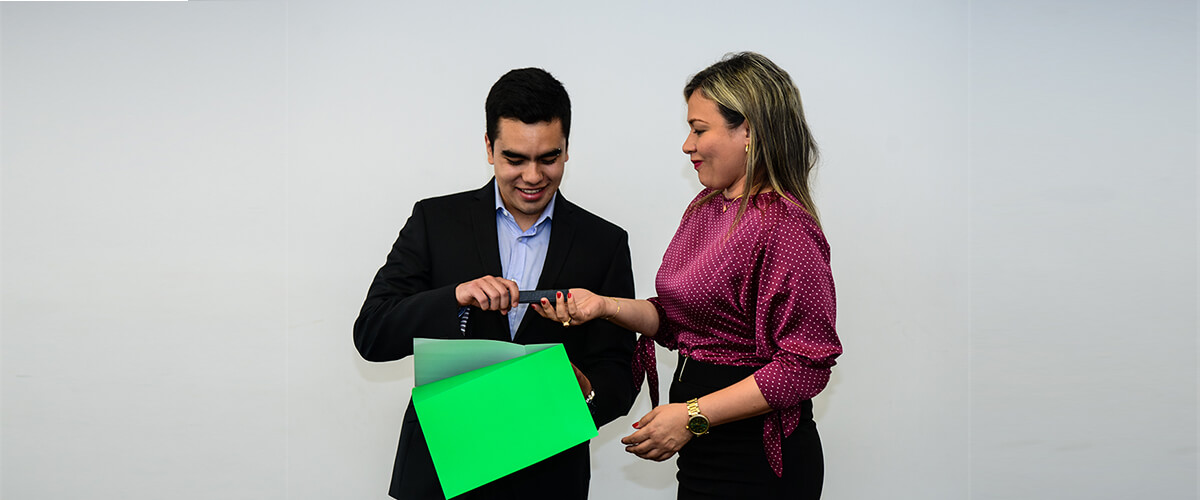 Miguel Alexander Sotelo and María Camila Rodríguez, beneficiaries of the Roberto Rocca scholarship