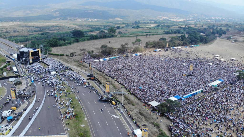 Imagen del concierto en la frontera entre Colombia y Venezuela.