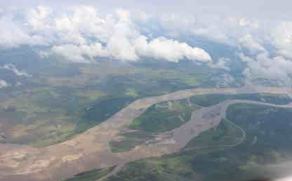 Una toma aérea de la Orinoquia colombiana.