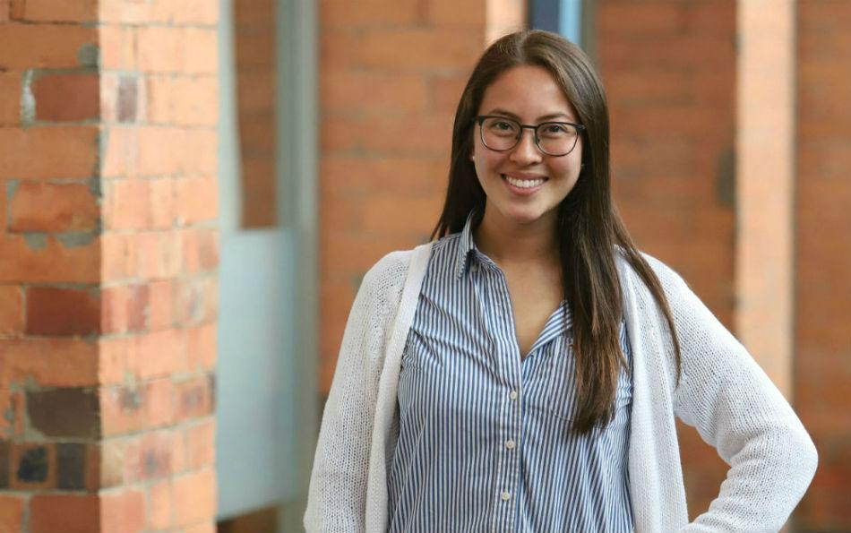 Daniela Andrea Wong Rubio, estudiante de ingeniería Química de la Universidad de los Andes.