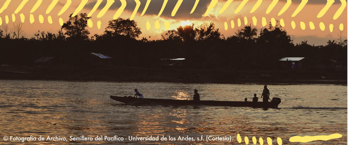 Foto del Atardecer en el pacífico colombiano