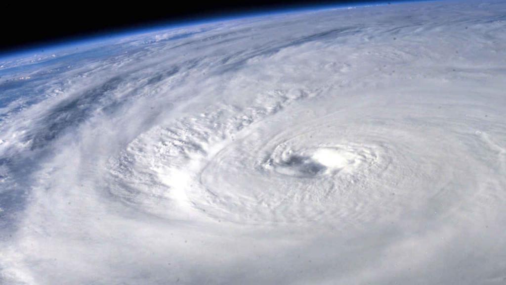 Imagen de un huracán tomada desde el espacio.