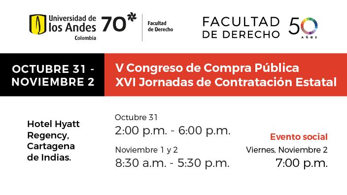 Jornadas de Contratación Estatal Universidad de los Andes