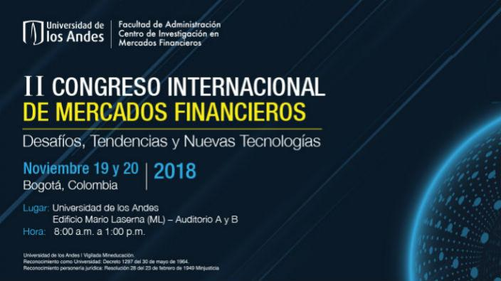 Banner Congreso internacional de Mercados Financieros.