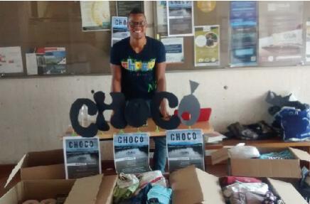 Miguel Alejandro Rodríguez Barajas recolecta donaciones para el Chocó