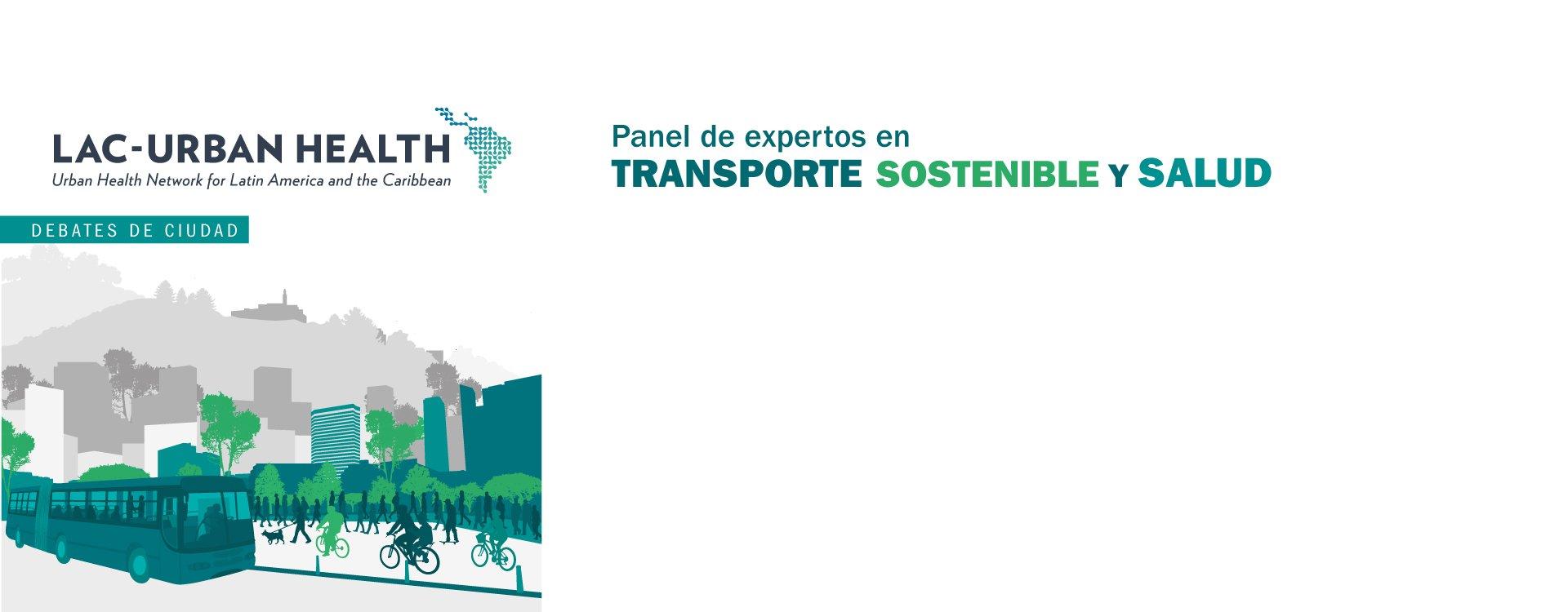 Gráfico invitación Panel transporte sostenible y salud.