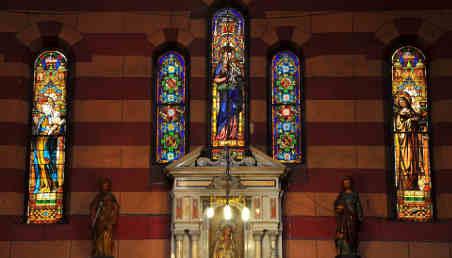 Foto de vitrales Iglesia de las Nieves