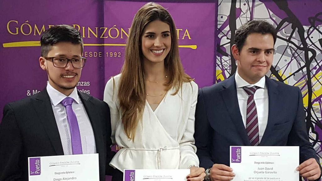 Diego Alejandro Moreno, Gabriela Tafur Nader y Juan David Orjuela Garavito fueron los primeros lugares en el concurso.