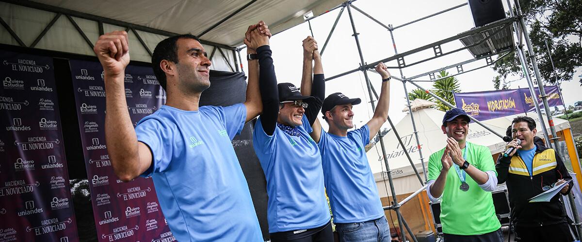 Daniel Cadena, Adriana Díaz y Felipe Botero, creadores de Quiero Estudiar Deportes