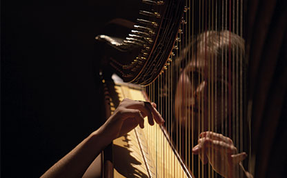 27 year-old Elisabeth Plank is the global harp ambassador.