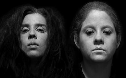 Rostros de las actrices de la obra 'Violeta opera'.