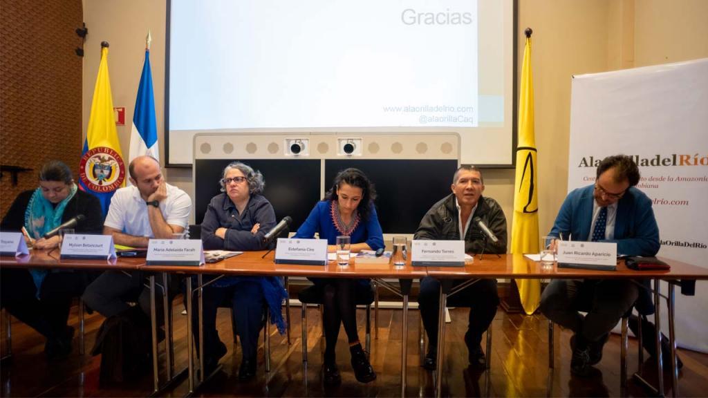 María Adelaida Farah, Mylson Betancourt, Dora Lucila Troyano y Fernando Torres