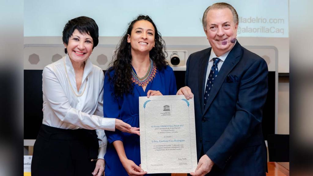 Imagen de Saadia Sánchez, Estefanía Ciro y Eduardo Selman