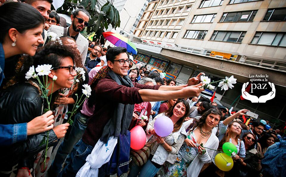 multitud marcha paz en colombia los andes apuesta