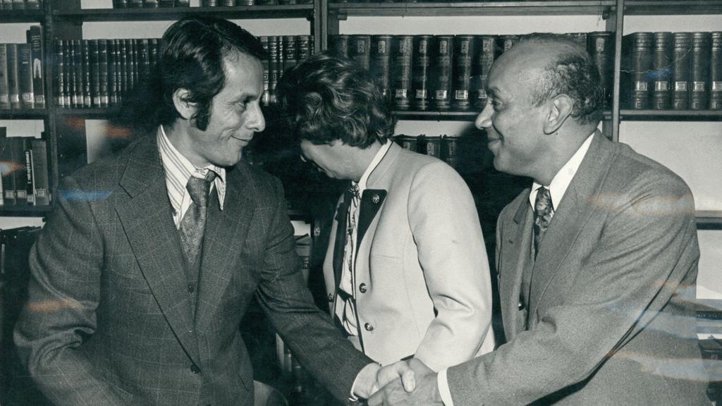 Alberto Schotborgh y Eduardo Aldana Valdés, Rector de la Universidad de los Andes