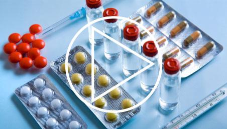 Foto de medicamentos.