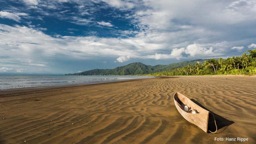 Imagen de canoa en el pacífico colombiano