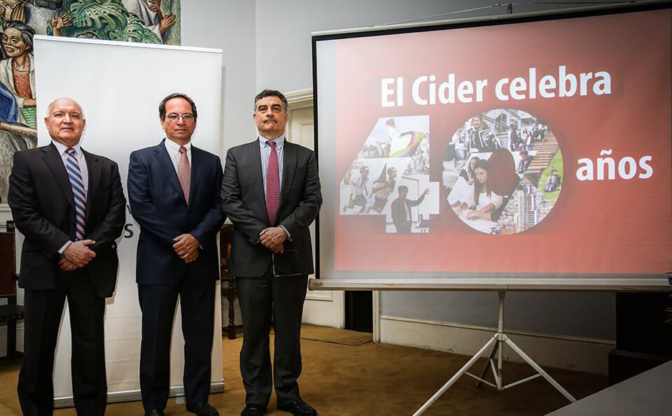 Andrés Gomez, Oscar Pardo y Carl Langebaek