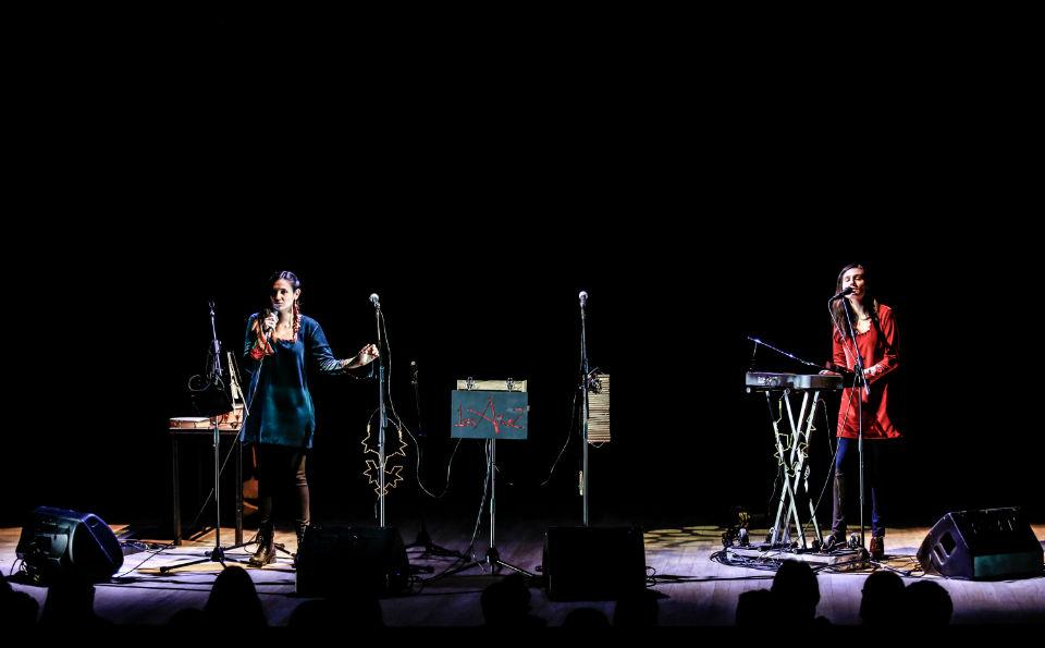 Gemelas Áñez en su concierto en la Universidad de los Andes