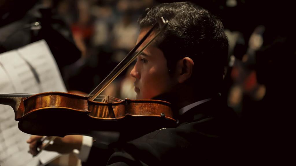 Violinista de Carmina Burana