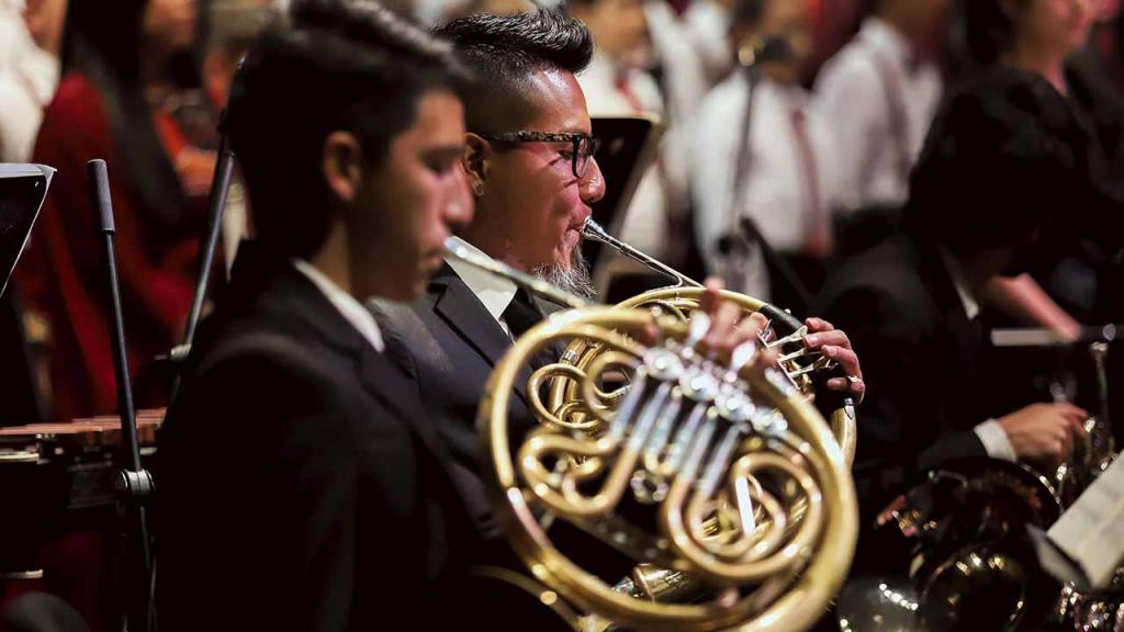Músico de la orquesta