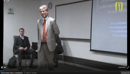 Antanas Mockus, conferencia, ética, ciudadanía, cultura ciudadana