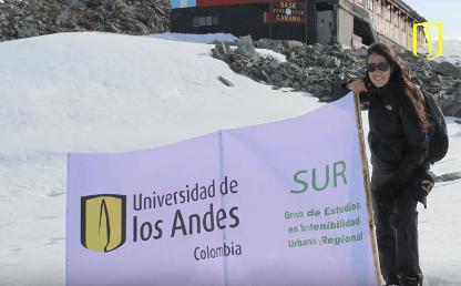 Natalia Jaramillo, estudiante uniandina, en expedición a la Antártida