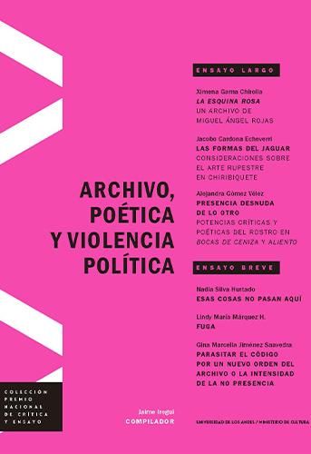 Cubierta del libro Archivo, poética y violencia política