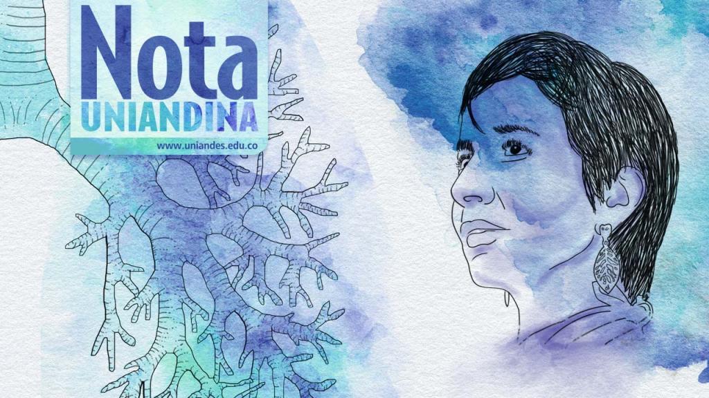 Ilustración del rostro de Ana Cecilia Niño