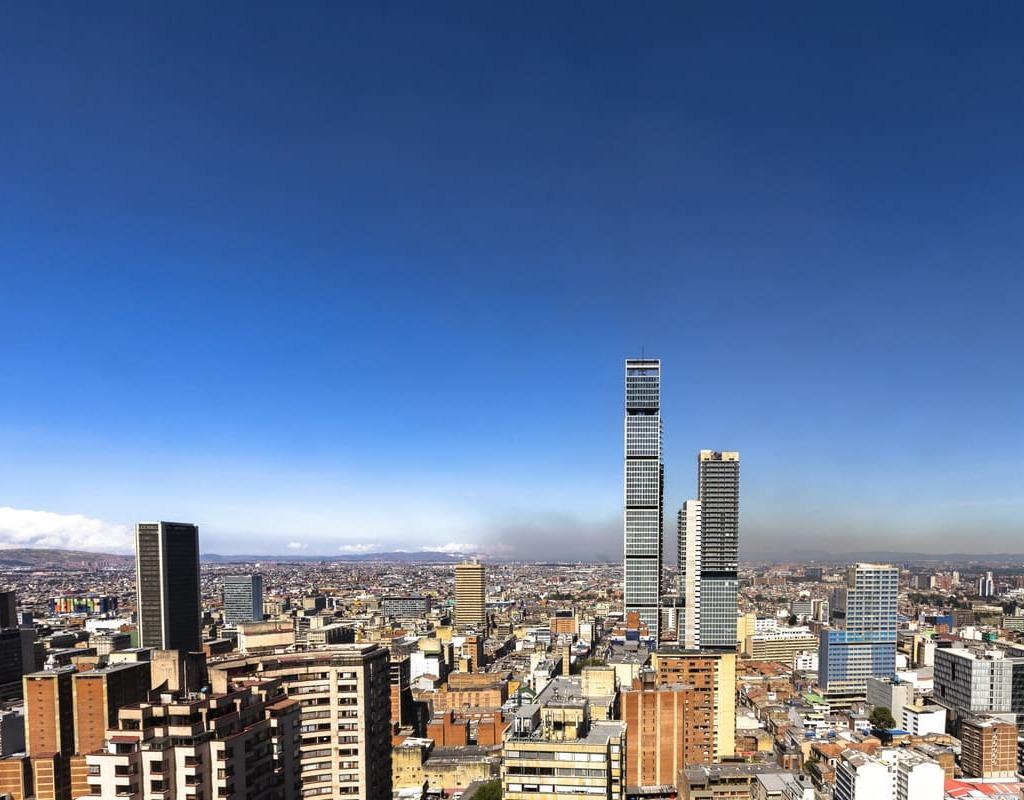 Foto panorámica de Bogotá