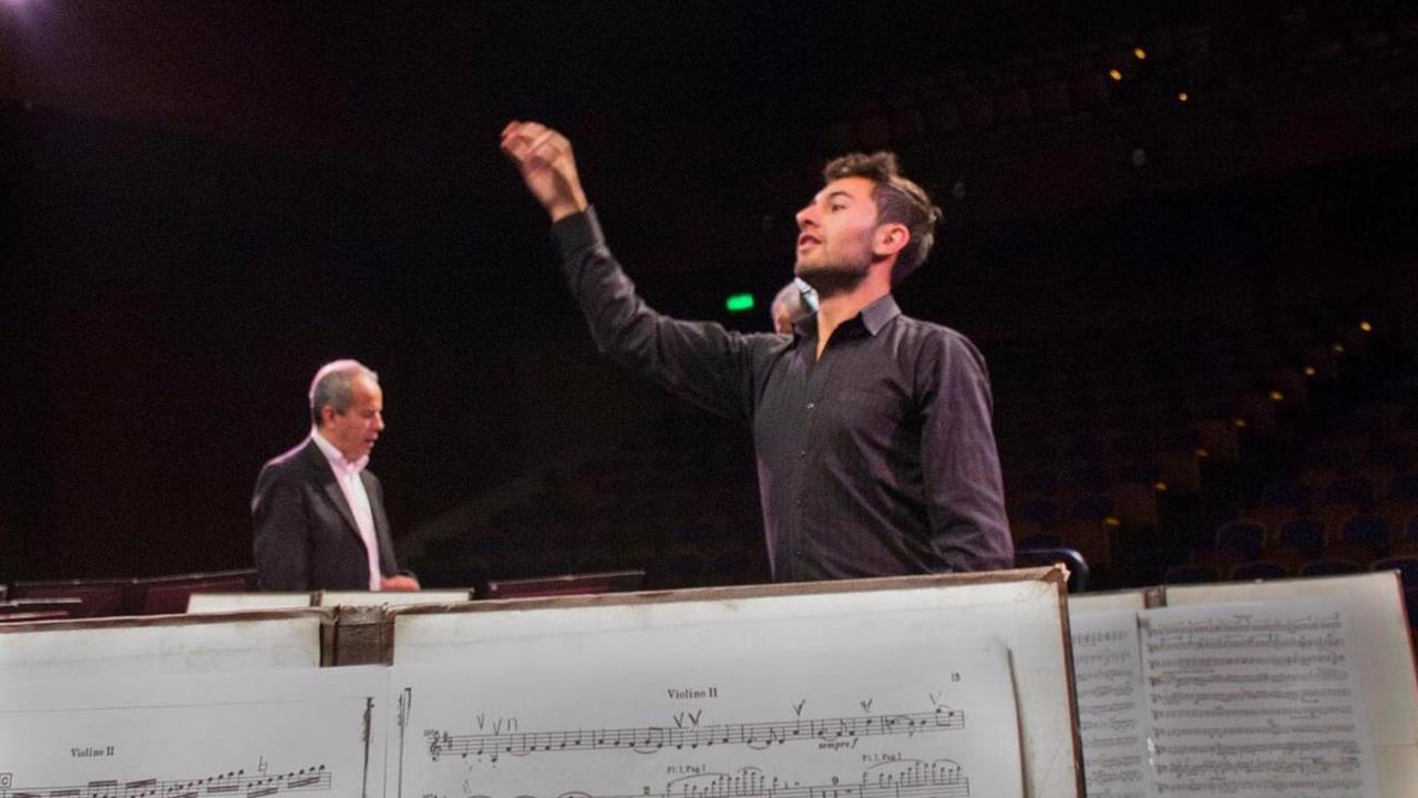 Durante la preparación de la Novena Sinfonía de Beethoven con la Orquesta Sinfónica Nacional de Colombia