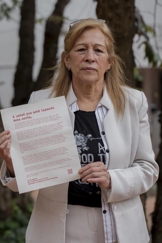 Foto de Ana Páez, madre de un desaparecido