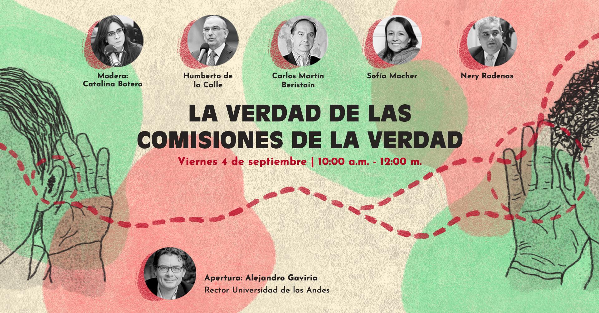 Afiche de la primera sesión de la Cátedra de Paz