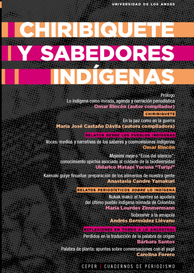 Portada del libro Chiribiquete y sabedores indígenas