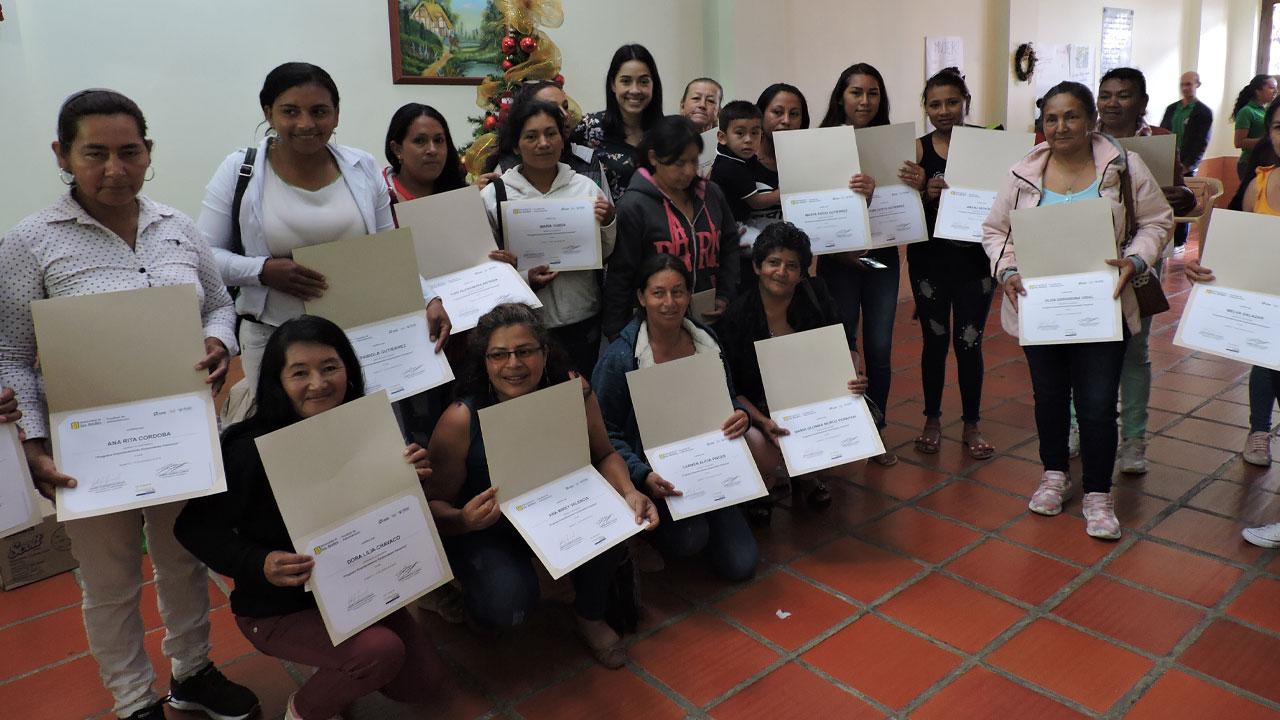 Foto de algunas de las participantes del proyecto.