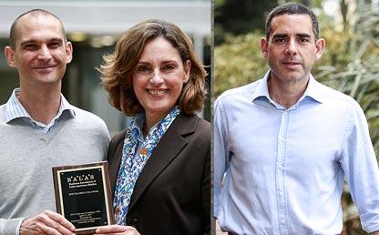 Eric Quintane, María Helena Jaén y Maximiliano González, profesores de la Facultad de Administración de la Universidad de los Andes.