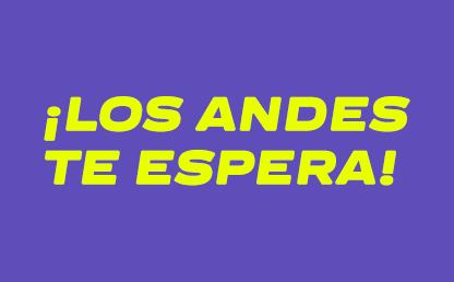 Imagen con texto Los Andes te espera