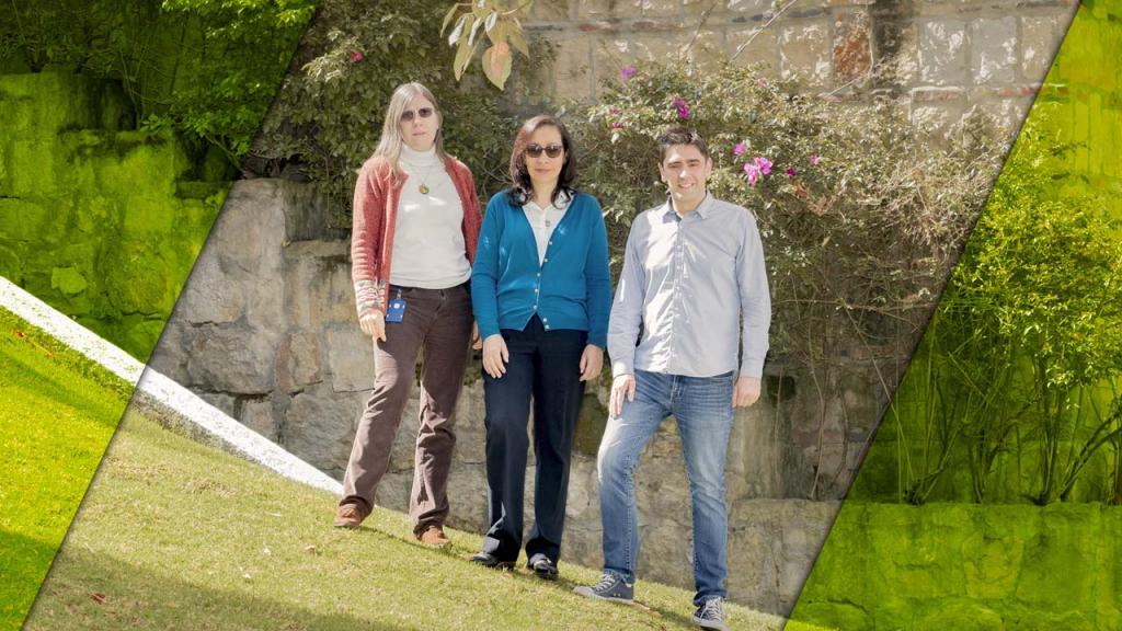 Imagen de los tres profesores que recibieron el apoyo de la fundación John Templeton para adelantar este proyecto.