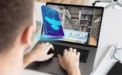 Foto montaje para la búsqueda de libros digitales en la biblioteca de Los Andes