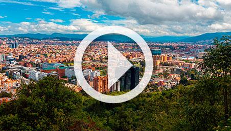 Imagen de una ciudad desde lejos.