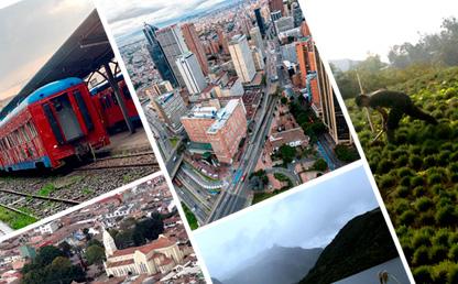 Collage de fotos de Bogotá - región.