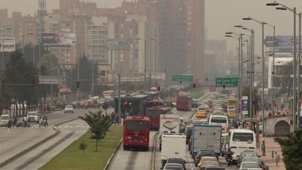 Imagen de contaminación en Bogotá