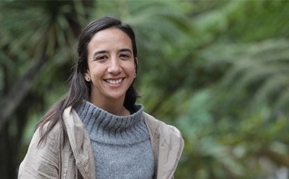 Imagen en plano medio de Camila Gómez Montes.