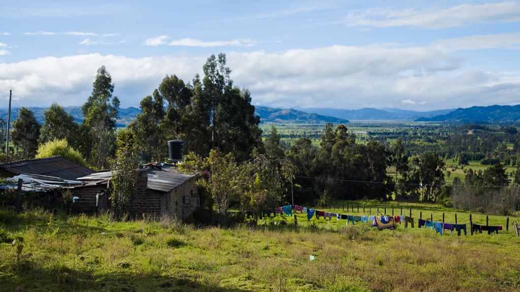 Panorámica de una finca en Cundinamarca