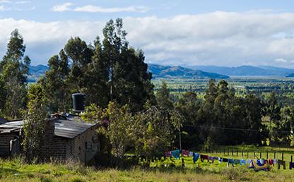 Panorámica de una zona rural